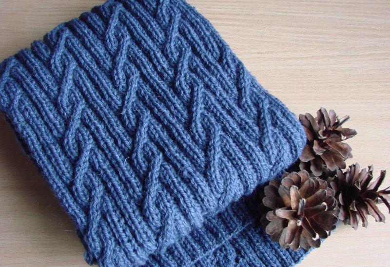 связанный мужской шарф